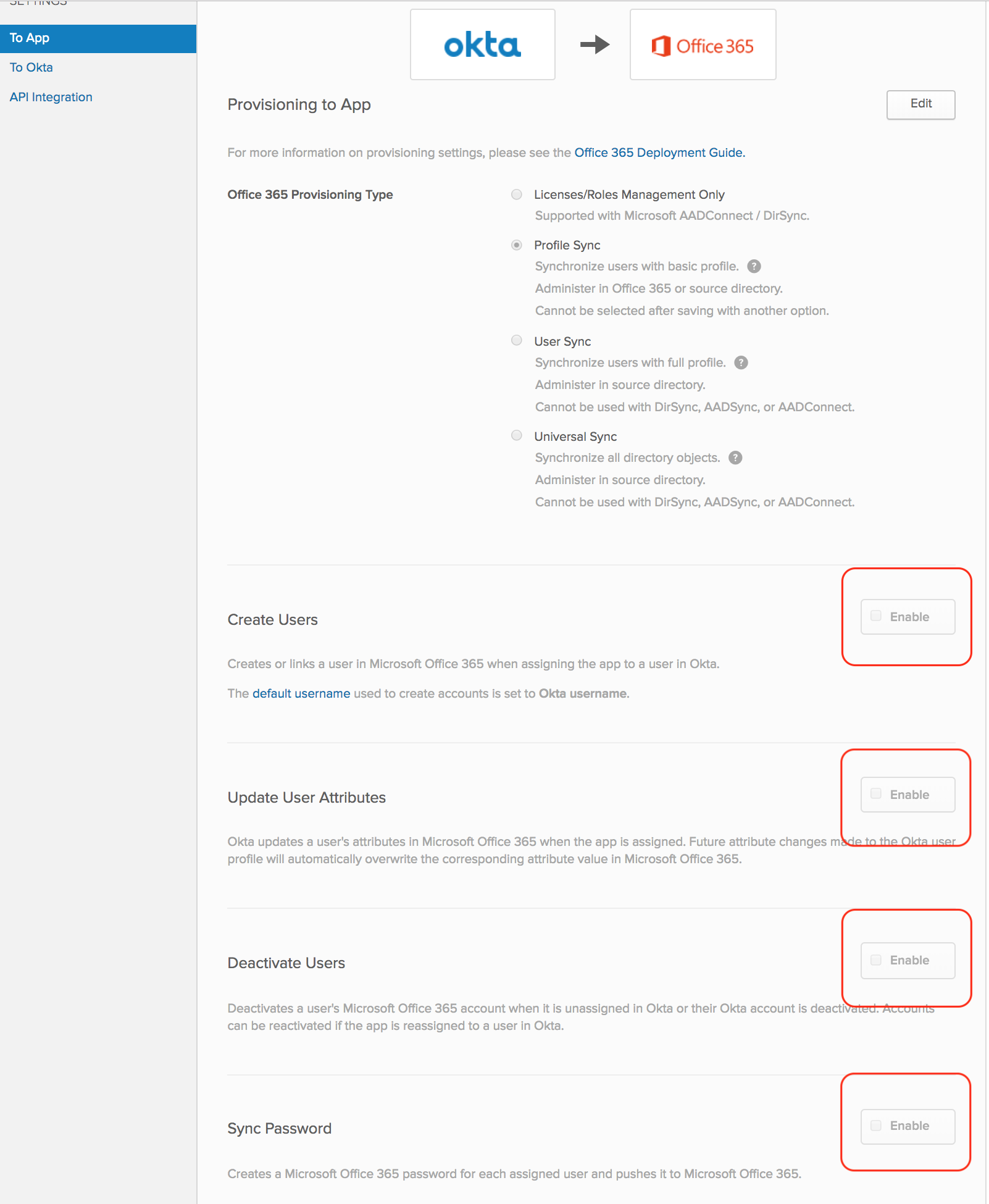 Setting up Office 365 with multiple domains in Okta